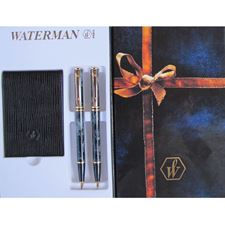 Picture of Waterman Laureat Marble Grey Ballpoint Pen Pencil Set