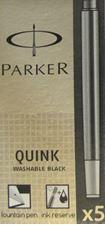 Picture of Parker Quink Ink Cartridges Washable Black (5 Per Card)