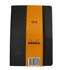 Picture of Rhodia Weekly Notebook Black 4x6  2016