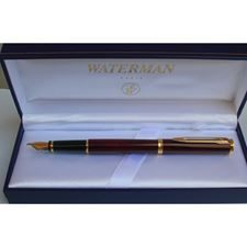 Picture of Waterman Preface Thriller Red Gold Trim Fountain Pen Fine Nib