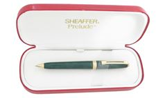 Picture of Sheaffer Prelude Lacquer Green Gold Plate Trim Ballpoint Pen