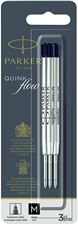 Picture of Parker Quink Flow Ballpoint Refill Black Medium Point (3 Per Card)